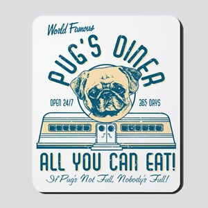 PUGS DINER FAWN Mousepad