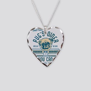 PUGS DINER FAWN Necklace Heart Charm