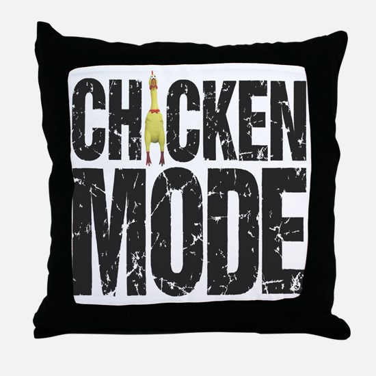 Chicken Mode Throw Pillow