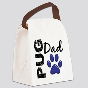 D Pug Dad 2 Canvas Lunch Bag
