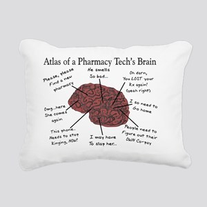 Atlas of a pharmacy tech Rectangular Canvas Pillow