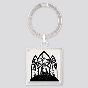 Nativity Square Keychain