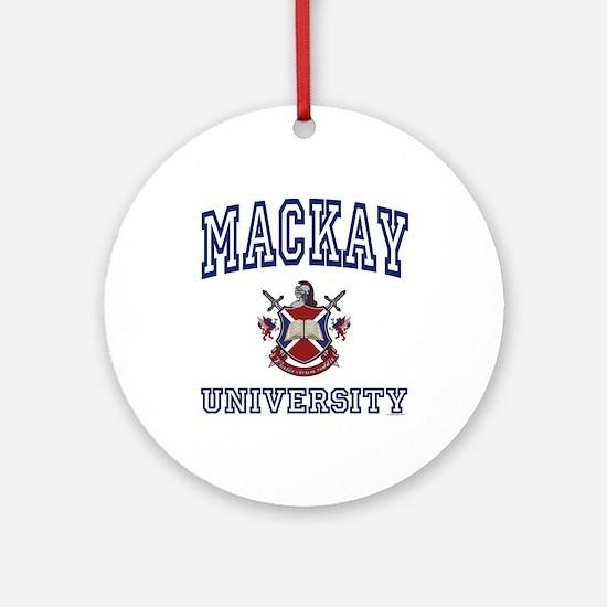 MACKAY University Ornament (Round)
