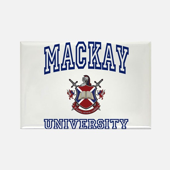 MACKAY University Rectangle Magnet