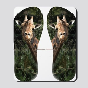 SmilingGiraffe Flip Flops Mousepad