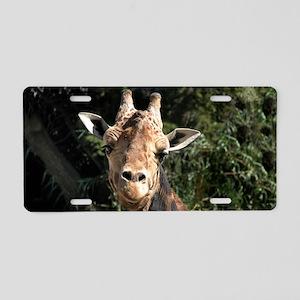 SmilingGiraffe Clutch Aluminum License Plate