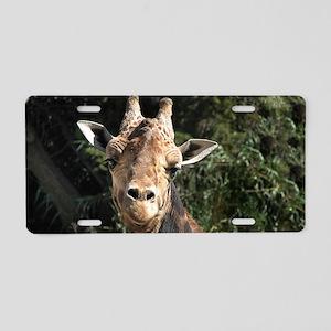 SmilingGiraffe Shoulder Aluminum License Plate