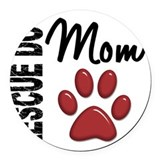 Dog rescue Round Car Magnets