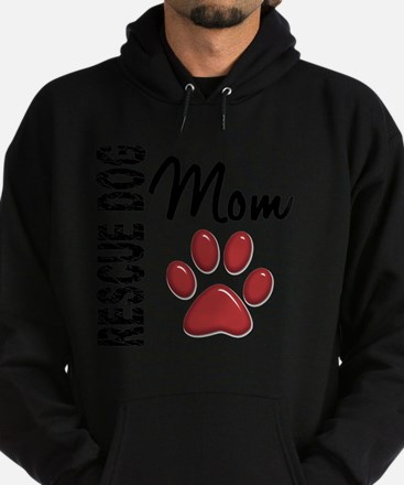 D Rescue Dog Mom 2 Hoodie (dark)