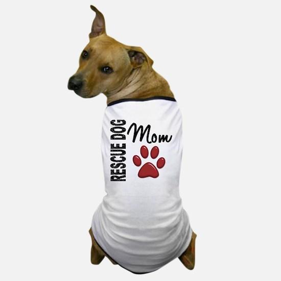 D Rescue Dog Mom 2 Dog T-Shirt