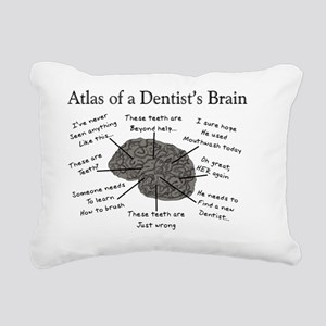 atlas of a dentists brai Rectangular Canvas Pillow