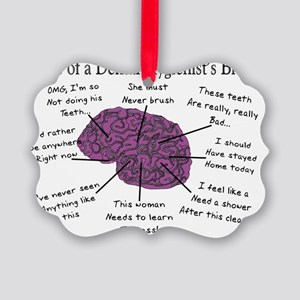 Atlas of a Hygienists Brain Picture Ornament