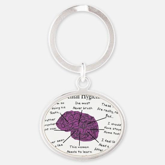 Atlas of a Hygienists Brain Oval Keychain