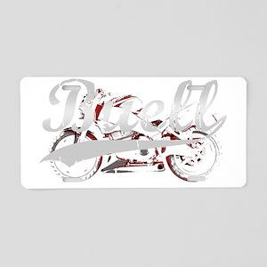 Buell_Script_dark Aluminum License Plate