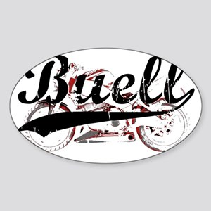 Buell_Script Sticker (Oval)