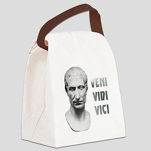 Veni vidi vici white Canvas Lunch Bag