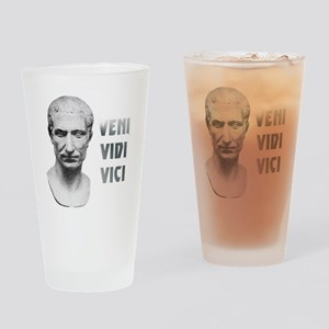 Veni vidi vici white Drinking Glass