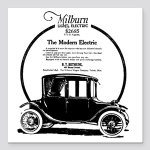 "1919 Milburn Square Car Magnet 3"" x 3"""