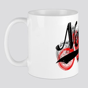 Nellis Nevada AFB_Motorcycle_Script Mug