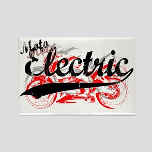 Moto Electric Script copy Rectangle Magnet