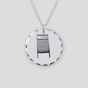WashboardLight Necklace Circle Charm