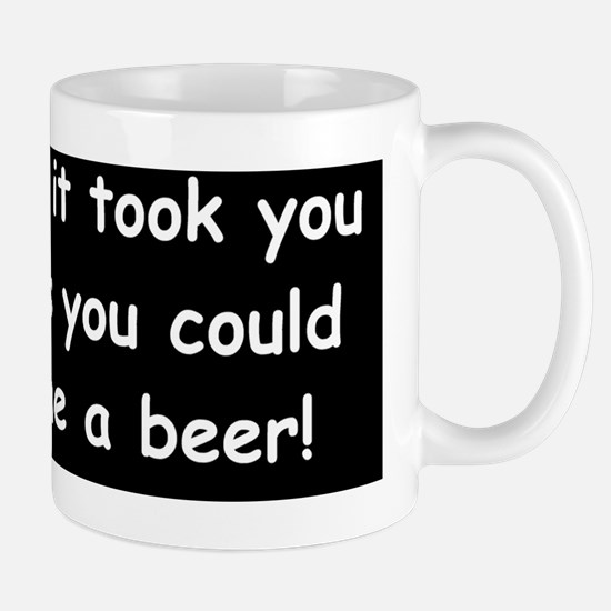 Beer in the timed Mug