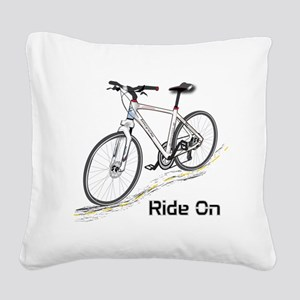Three-Quarter View Bicycle Square Canvas Pillow