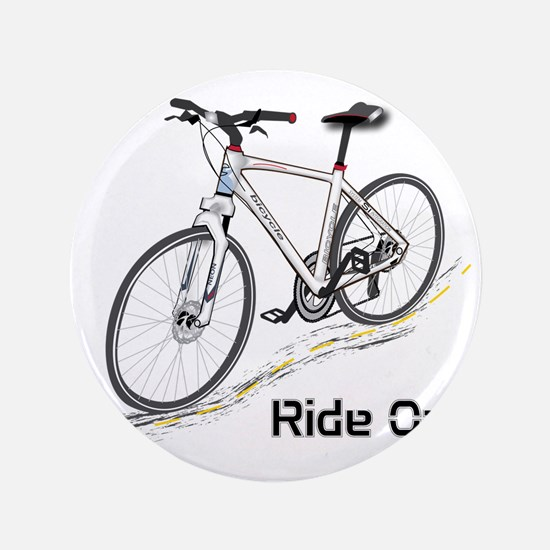 "Three-Quarter View Bicycle 3.5"" Button"