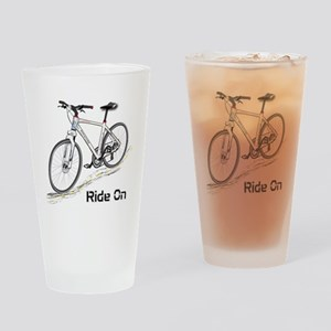 Three-Quarter View Bicycle Drinking Glass