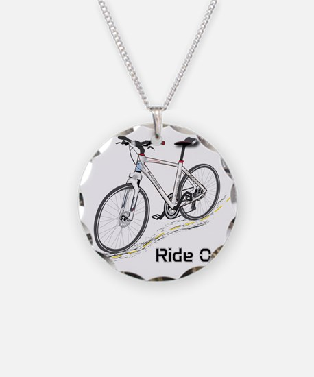 Three-Quarter View Bicycle Necklace