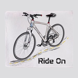 Three-Quarter View Bicycle Throw Blanket