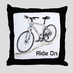 Three-Quarter View Bicycle Throw Pillow