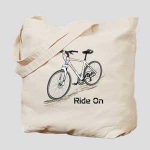 Three-Quarter View Bicycle Tote Bag