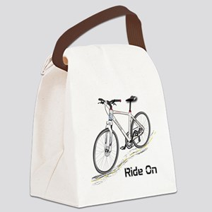 Three-Quarter View Bicycle Canvas Lunch Bag