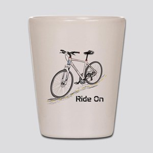 Three-Quarter View Bicycle Shot Glass