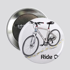 """Three-Quarter View Bicycle 2.25"""" Button"""