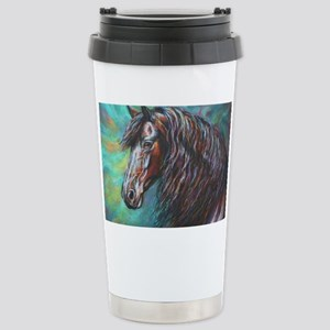 Zelvius the Friesian horse Stainless Steel Travel