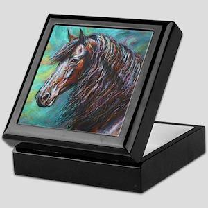 Zelvius the Friesian horse Keepsake Box