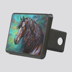 Zelvius the Friesian horse Rectangular Hitch Cover