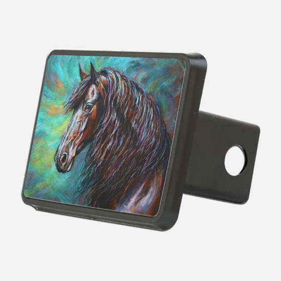 Zelvius the Friesian horse Hitch Cover