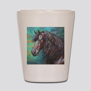 Zelvius the Friesian horse Shot Glass