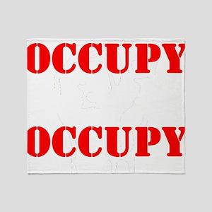 OccupyNYC-lgt Throw Blanket