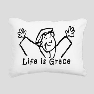 life is grace large Rectangular Canvas Pillow