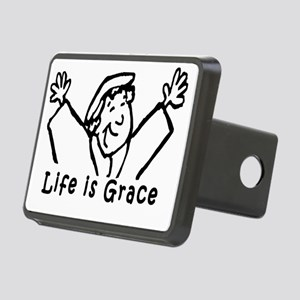 life is grace large Rectangular Hitch Cover