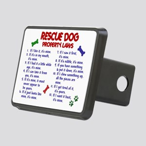 D RESCUE DOG PL2 Rectangular Hitch Cover