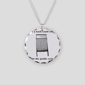 washboarddark Necklace Circle Charm
