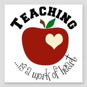 "Teaching Square Car Magnet 3"" x 3"""