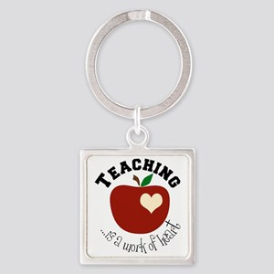 Teaching Square Keychain