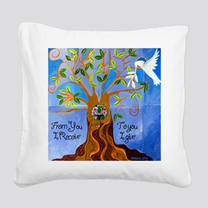 tree for joyce Square Canvas Pillow
