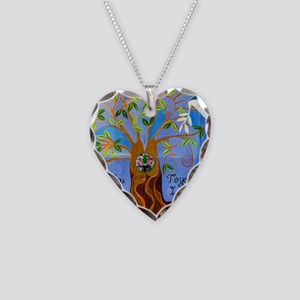 tree for joyce Necklace Heart Charm